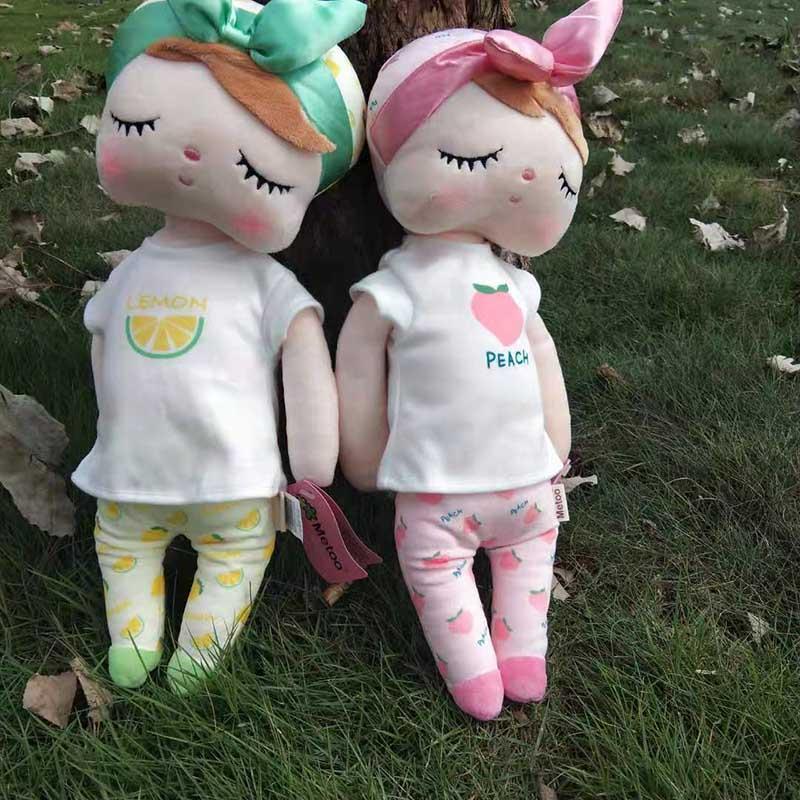 New 42cm Genuine Original Angela Metoo Fruit Rabbit Doll Stuffed Animal Soft Kids Toys for Children Birthday Gift Wholesale