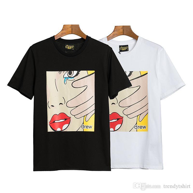 2020SS Mens T Shirt Hip Hop Impressão Moda Mens camiseta manga curta de alta qualidade Homens Mulheres Camiseta Polo Tamanho S-XXL