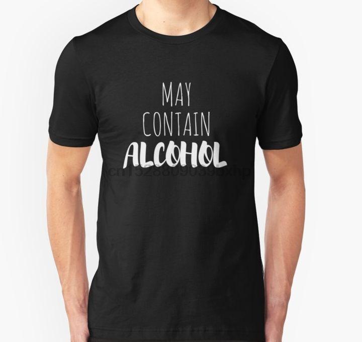 Alkol Tişörtlü Tişörtlü Kadınlar tshirt içerebilir Erkekler kısa kollu tişört