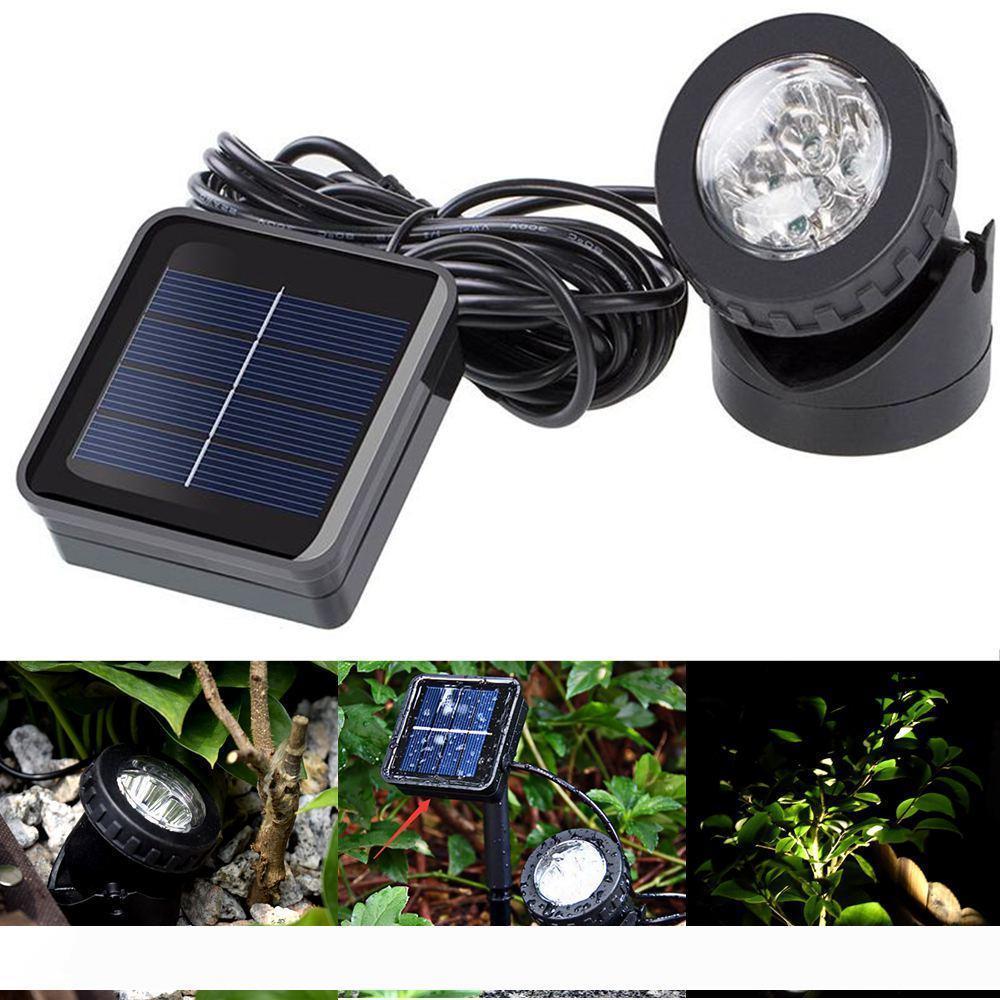 RGB Solar Powered Underwater Projection Lights LED Spotlight Garden Pond