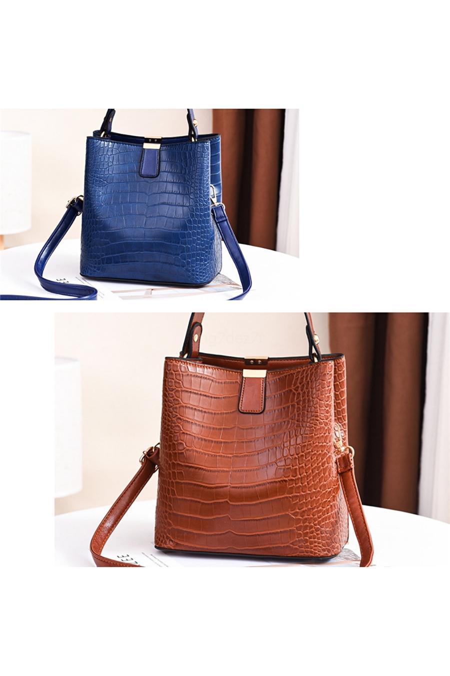 New 5er Set Frauen Composite-Beutel-Qualitäts-Damen Handtaschen Frau PU-Leder-Schulter-Kurier-Beutel-Taschen-Tasche Bolsa # 119
