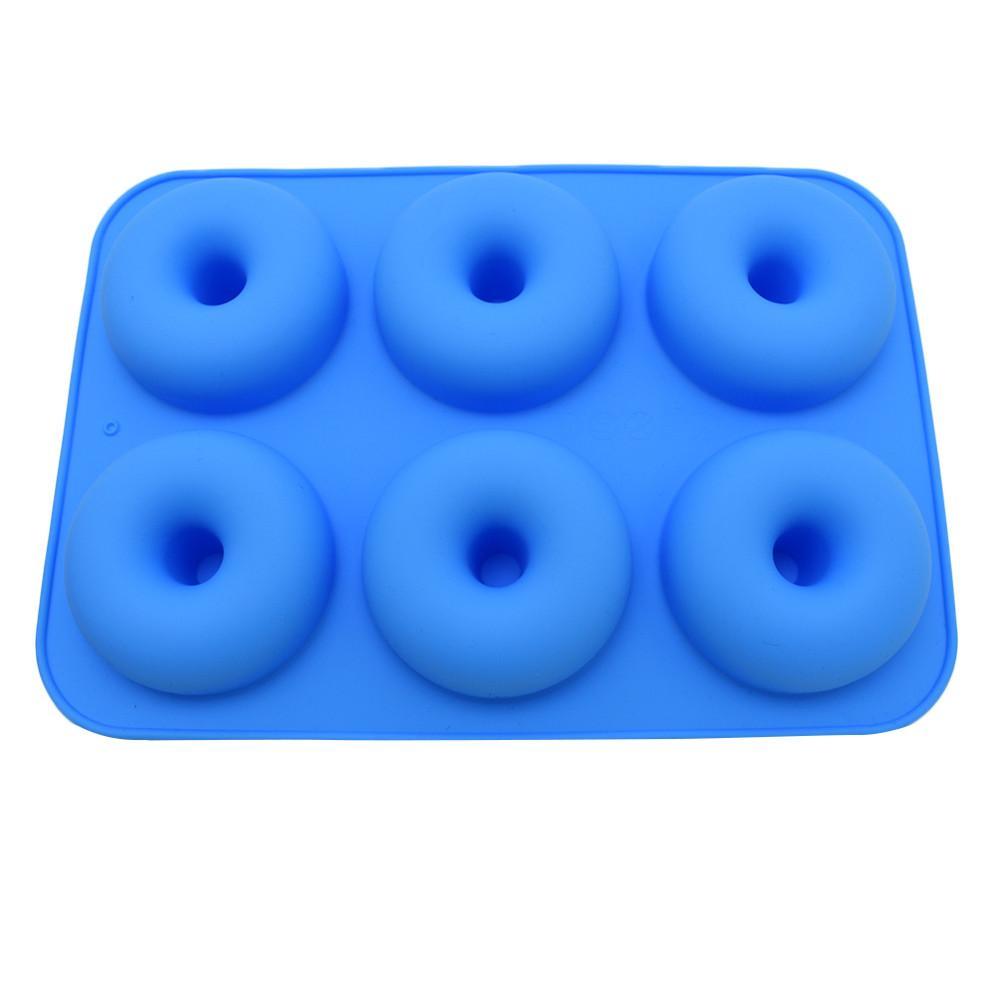 6-Cavity silicone Donut cuisson poêlon antiadhésif magasin gâteau cuisine moule Outils Ustensiles pour cuisson antiadhésives et résistant à la chaleur réutilisable