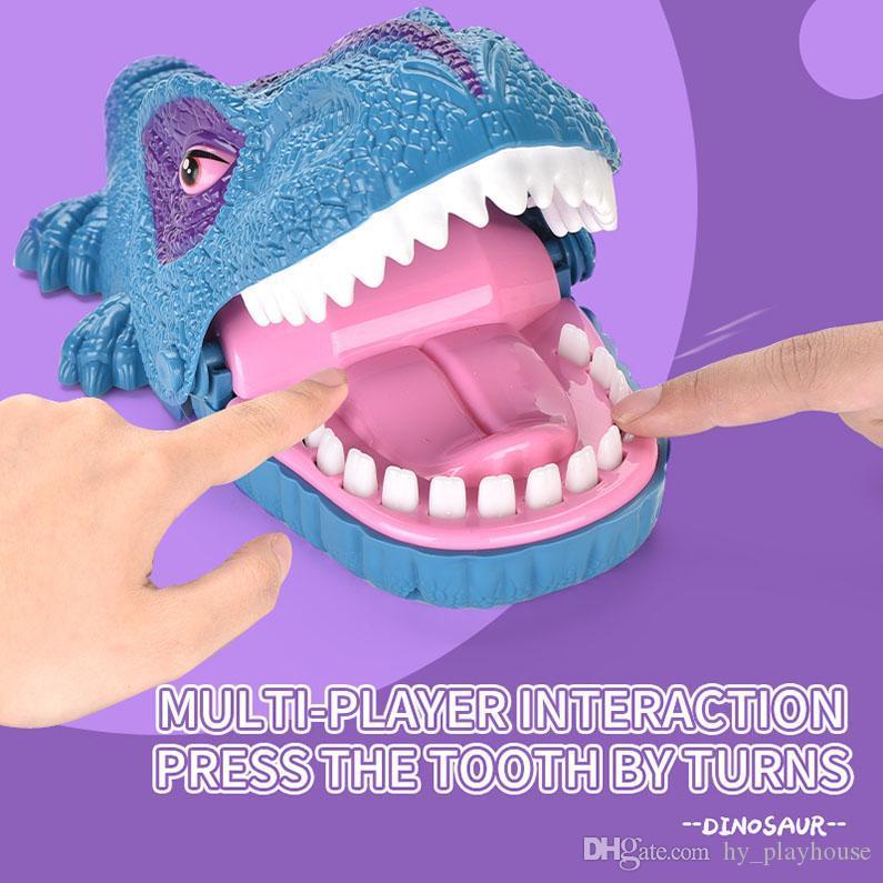 dito divertente gag morso bocca dinosauro giocattolo morde i giocattoli della barretta della famiglia interattivo partito novità del gioco per il regalo animale bambino 08