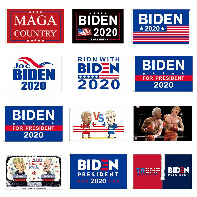 Banderas Trump Biden del presidente de Biden 2020 Banderas 3 * 5FT MAGA País Trump Banderas Joe Biden Elección Banner BH3933 TQQ