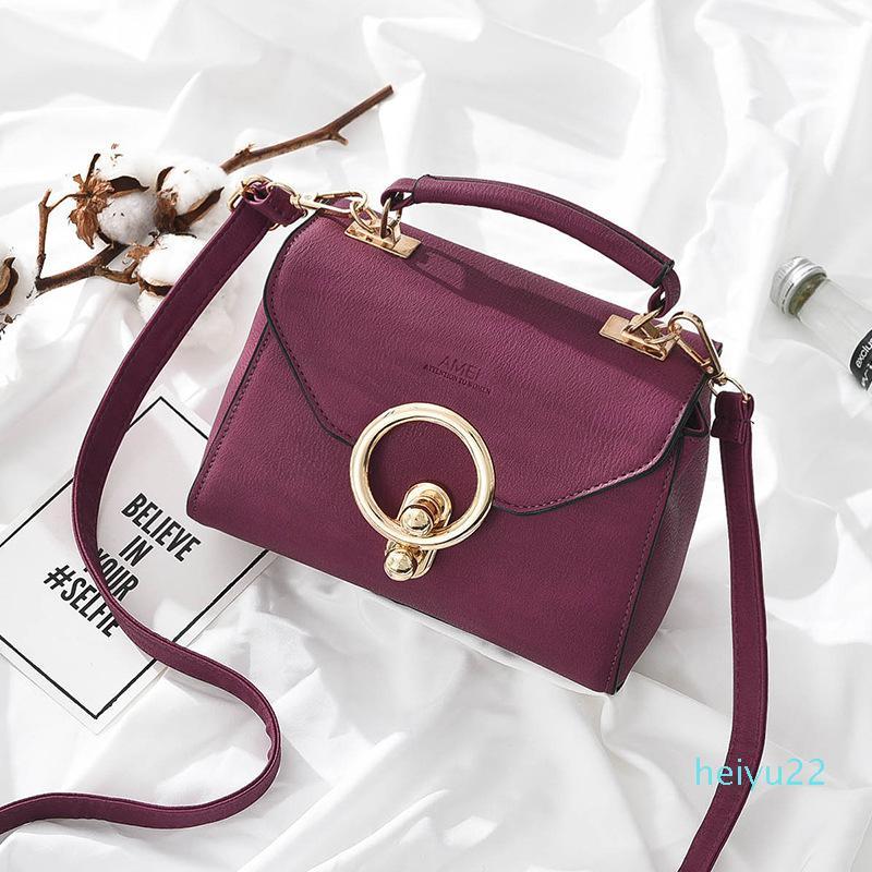2020 여성 금속 작은 사각형 가방 패션 고품질 핸드백 캐주얼 어깨 메신저 가방 새로운 골목 팜므 버클