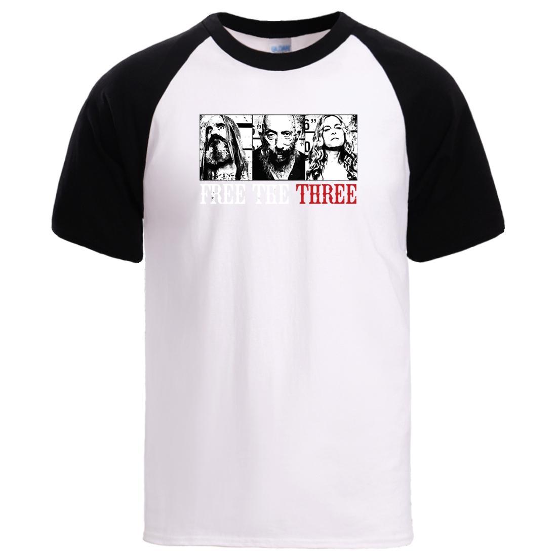 Gratuito The Three camisetas Mens manga curta Casual luva camisetas Raglan Verão Tee Tops 2020 Man Moda Harajuku frouxo camisetas
