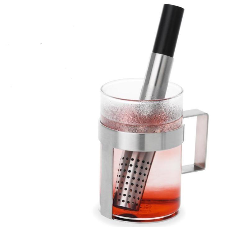 Çay Süzgeç Çubuk Paslanmaz Çelik Boru Tasarım Mesh Çay Filtre Taşınabilir Çay demlik Teaware SN1269