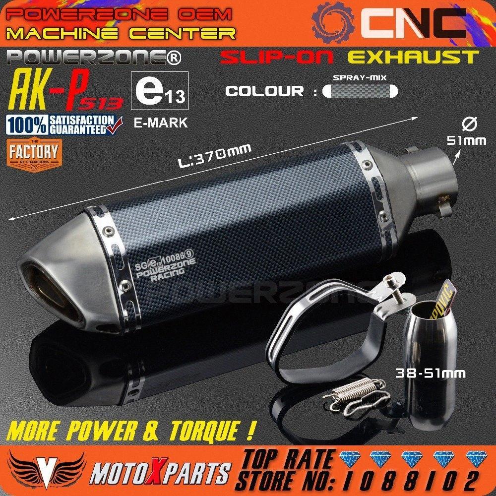 Modifiziertes Motorrad AK-P513 Auspuff Universal Schalldämpfer Für CB CRB YZFR EXC SXF R6 ZX-6R ZX-10R GSXR Scooter ATV PMDC #