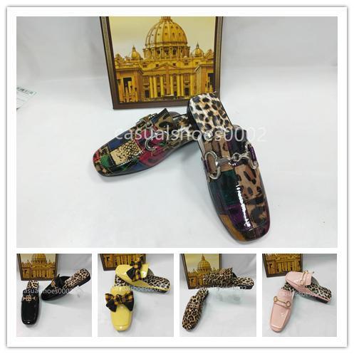 Novo designer 2019 Luxo mulheres sapatos baixos, sandálias das mulheres, metade arrasto, moda couro plataforma verão sapatos casuais L019
