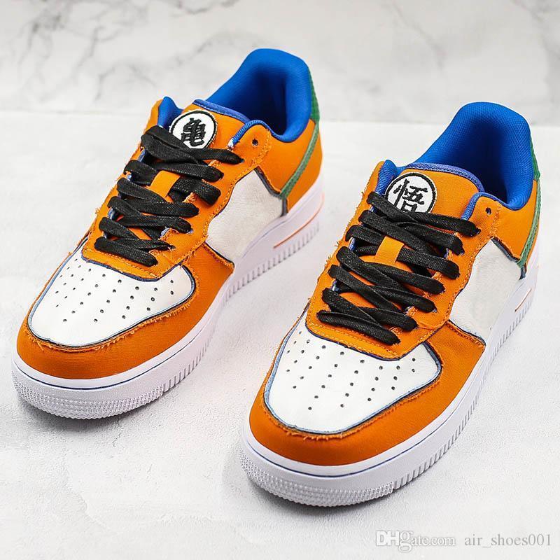 Nuevo Lanzamiento de Dragon Ball Z X Forzar Running Shoes 1 diseñador de moda clásico de baloncesto Entrenador Edición calidad superior de las zapatillas de deporte casuales