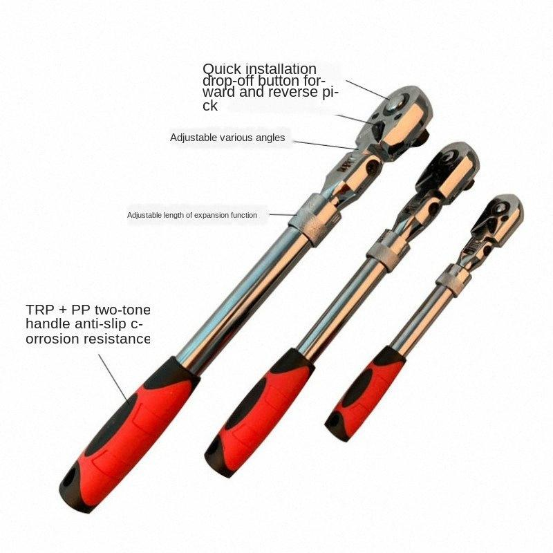 72Teeth Cırcır Anahtar Otomatik Hızlı Bırakma Hızlı 1/4 90 Derece ayarlayın Can 1/2 3/8 İskele Cırcır Kol Anahtarı 6caT #