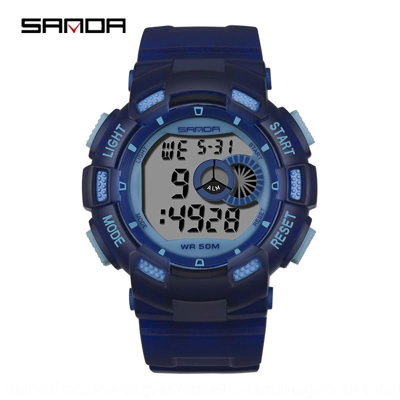 Sanda New colorful lights outdoor sports Outdoor sports Electronic watch fashion fashion LED electronic watch for boys and children