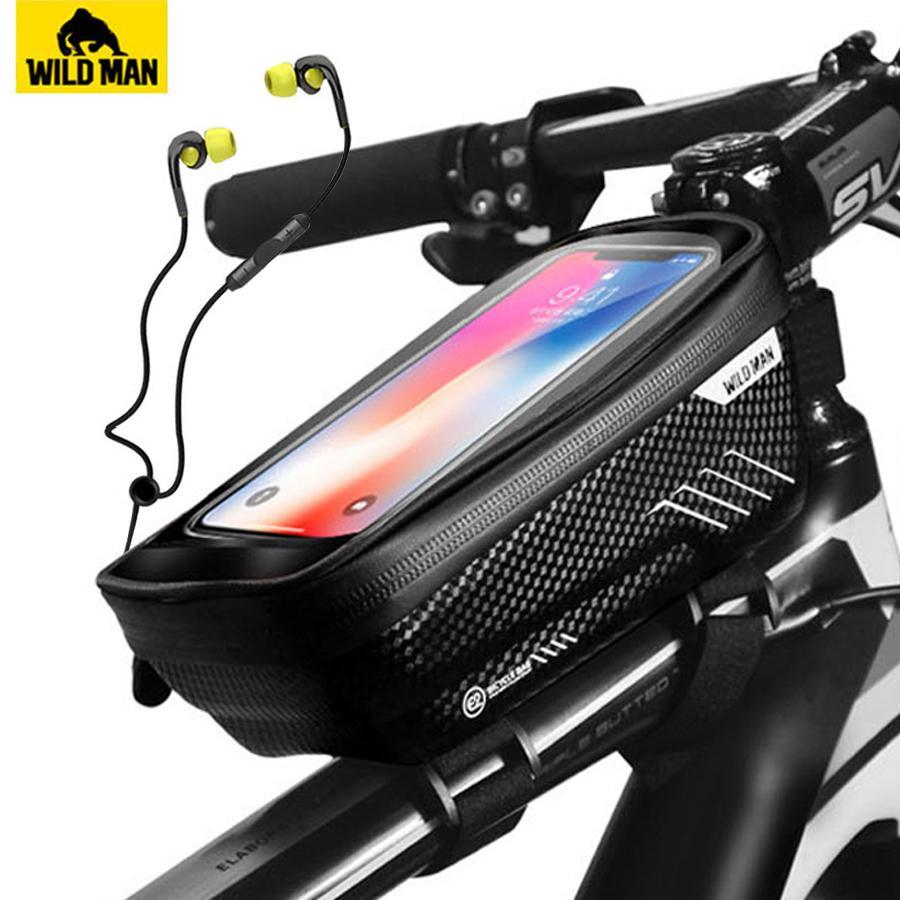 Waterproof Mountain Bike Frame Front Bag Pannier Bicycle Mobile Phone Holder Kit