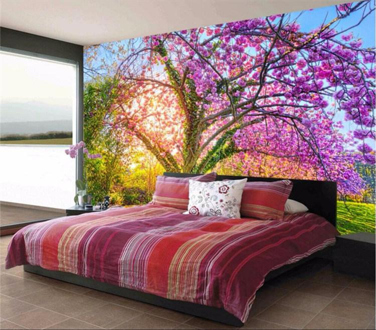 fotoğraf kağıdı özel duvar kağıdı Güzel bahçe kiraz çiçeği kiraz ağacı sarmaşıklar fon büyük duvar resimleri 3d duvar kağıdı