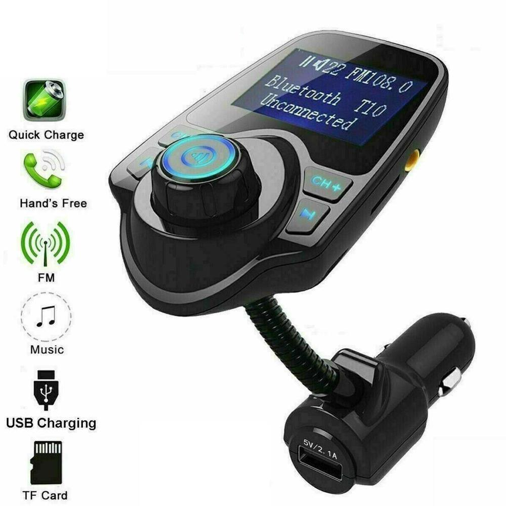 USB Car Charger adattatore per accendisigari auto caricabatterie senza fili In-Car di Bluetooth Trasmettitore FM Radio MP3 Kit adattatore auto