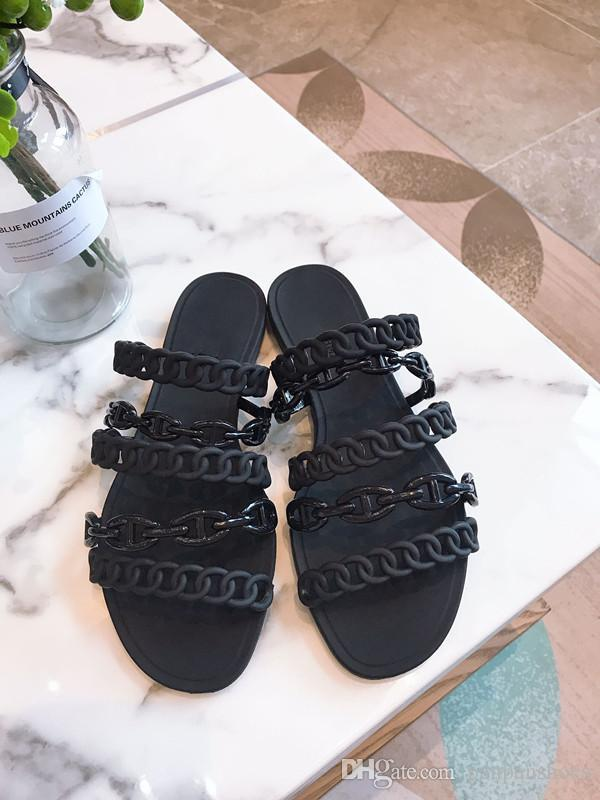 New Designer de luxo Mens Womens Verão Sandals Praia Deslize Luxo Chinelos Ladies Designer Shoes Imprimir Couro Flores hg190604