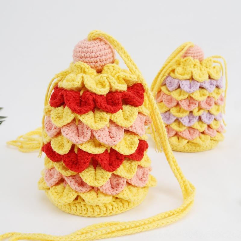 La misma mano mensajero de punto móvil de bricolaje para pastrulitas balde bolsa de escamas de pescado bricolaje producto acabado bolsa de teléfono móvil