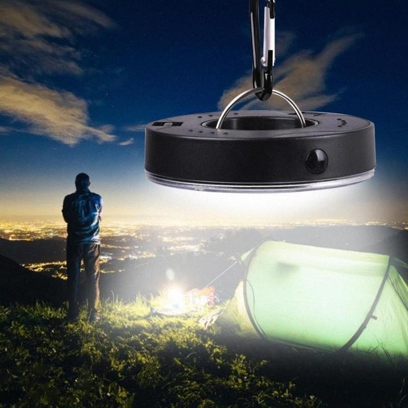 Портативный светодиодный свет Отдых на природе 3 Режимы COB Клип свет крюк палатка аварийного светильника Подвесной фонарь Nightlight ppbO #
