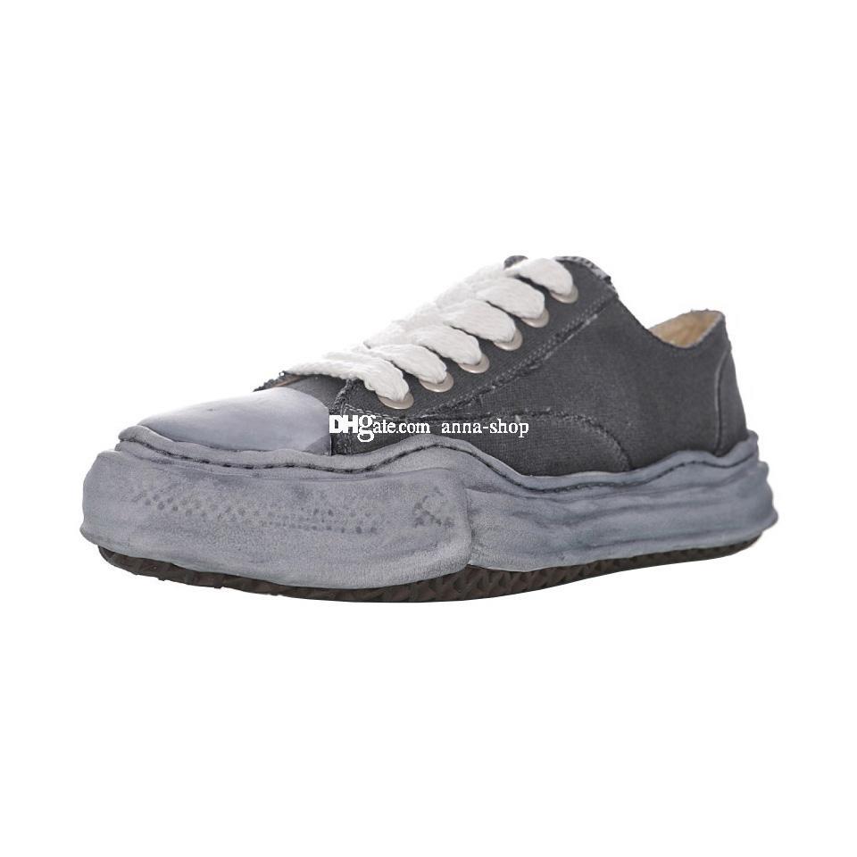 Maison Mihara Yasuhiro Over Dye Original Sole Canvas Basso Sneaker per Mens Nigel Cabourn Sneakers Delle Sneakers Donne MMY Skates Scarpe ShoesDye Skate Shoe