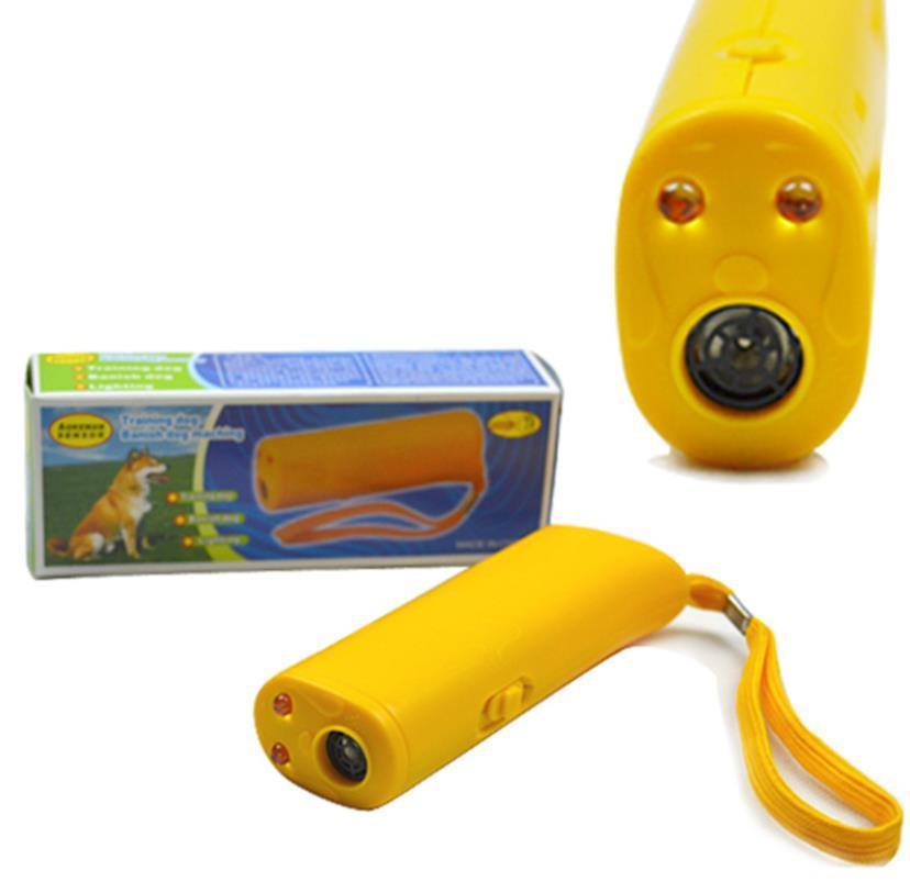 Allenatore di cane ad ultrasuoni del cane del cane che abbaia la torcia del cane a LED senza la vendita calda della batteria Trasporto libero 2020