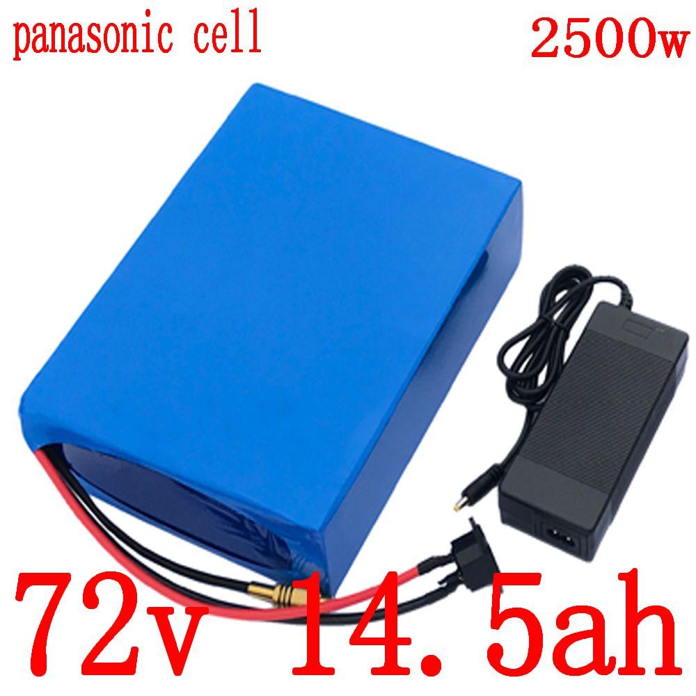 72v batería de litio de 72V 15AH ion uso de la bicicleta eléctrico de pila de Panasonic 2000W moto