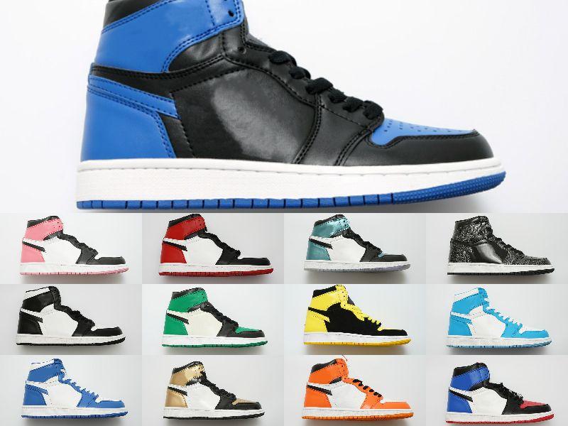 الجملة قوات التصميم رجل أدنى سكيت أحذية رخيصة واحدة للجنسين 1 حك الهواء نسائية عالية جميع أبيض أسود أحمر جلد المدرب الأزياء والأحذية