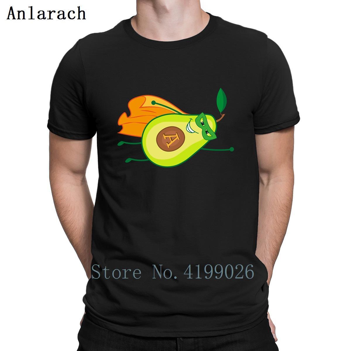 Abacate Como Superhero abacate engraçado herói camisetas Homens Fashions Quirky Vintage Designer Camisa Luz Solar Personalizar Hiphop Top gráfico
