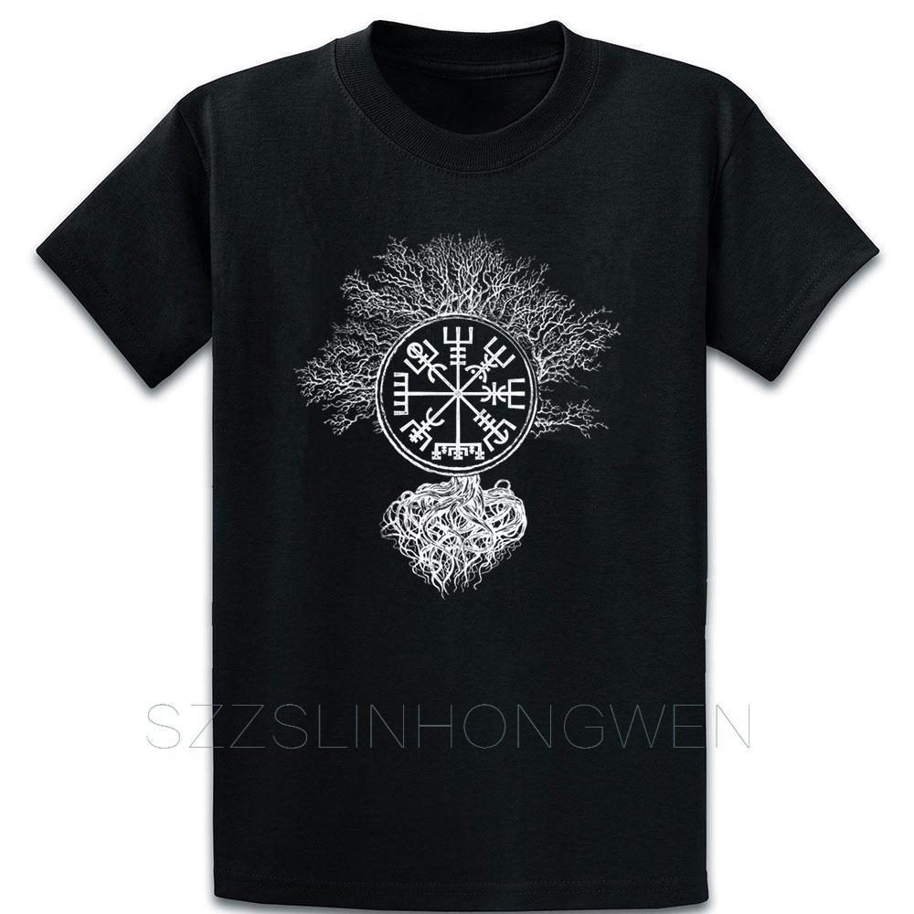 Vegvisir Viking Navigation Kompass-T-Shirt T-Shirt Entwurf Breathable Frühling Bilder Grafik über Größe S-5XL dünnes Hemd