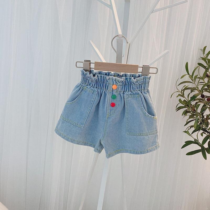 Mädchen der Art und Weise Jeans-Shorts 2020 neue Kinder-koreanische Art und Shorts und Jeans Hosen Mädchen modische Jeans