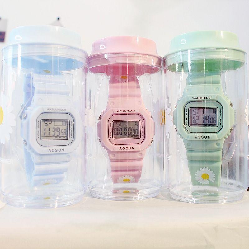 stile coreano ins Quan Zhilong Daisy Daisy dentellato elettronico orologio elettronico semplice coppia orologio TikTok