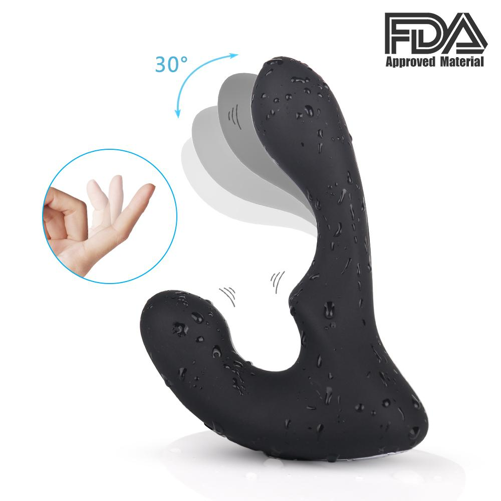 CX200724 Télécommande et vibration 9 Moteurs de jouet Sexe anal Massager 2 avec motifs masculins Stimulation sans fil pour le plaisir anal Prosta NHGU