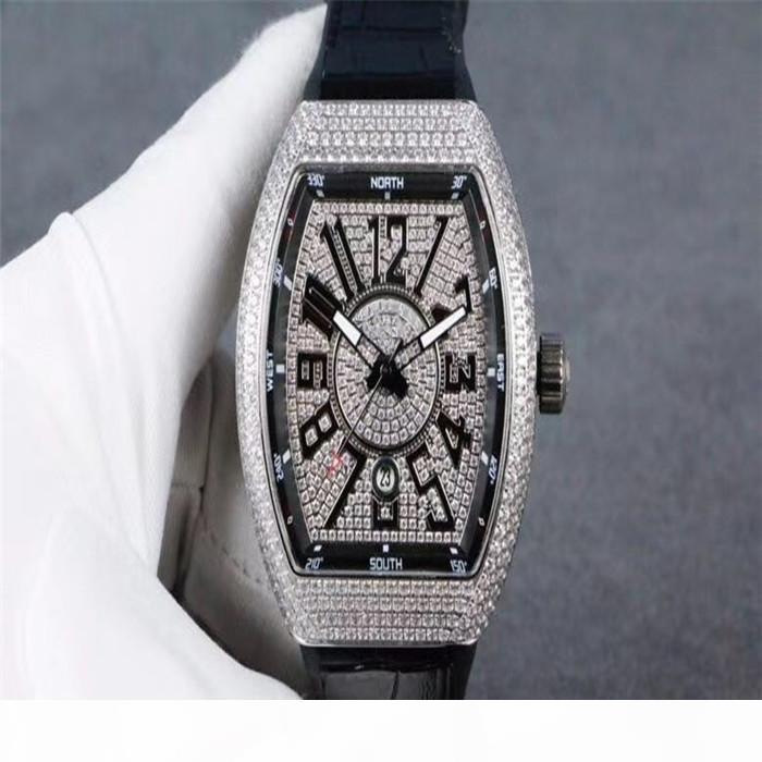 T del reloj del crimen 54 * 42 * 15 mm Arco Sandwich Diseño Movimiento mecánico automático de alta -Definición de cristal revestida Hebilla desplegable Diseñador Watc