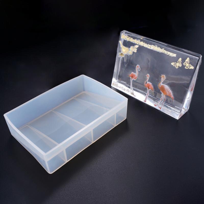 Belle moule en silicone transparent Fleur Résine décorative séchées de bricolage moules Cadre photo pour les bijoux 2020 Nouvelle Arrivée
