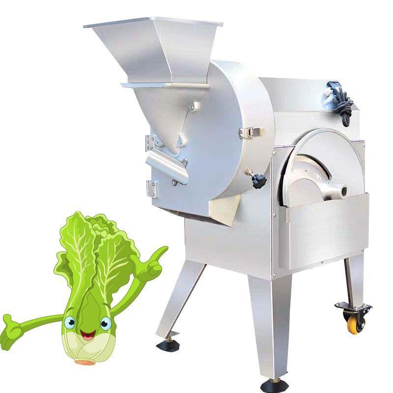 Multi-fonctions légumes de fruits Cutter coupe laitue Machine manuelle découpage en dés Acier inoxydable Dicer alimentaire processeur commercial