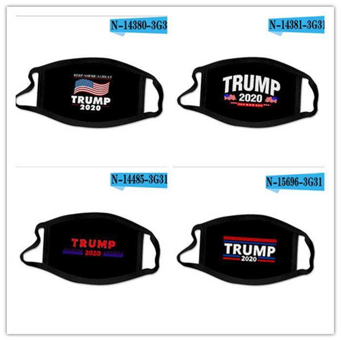 Masques de point chaud Amérique 2020 Election Trump masque visage avec le slogan Drapeau Imprimer antipoussière matériau en polyester