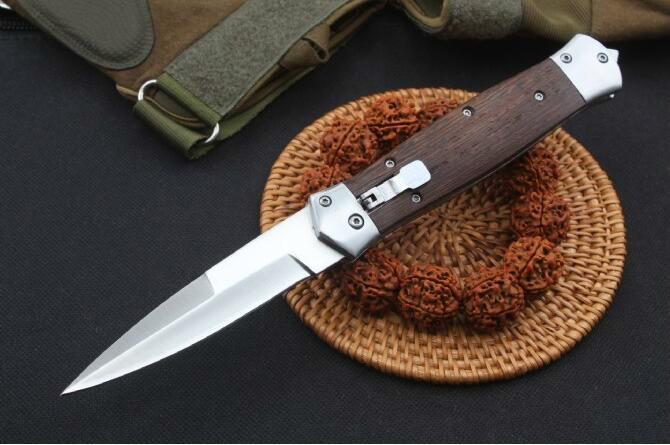 F125 Swordfish tarafı açık bıçak tek bir eylem Av Pocket Bıçak katlanır balıkçı kendini savunma Bıçak C90FPGYE streç