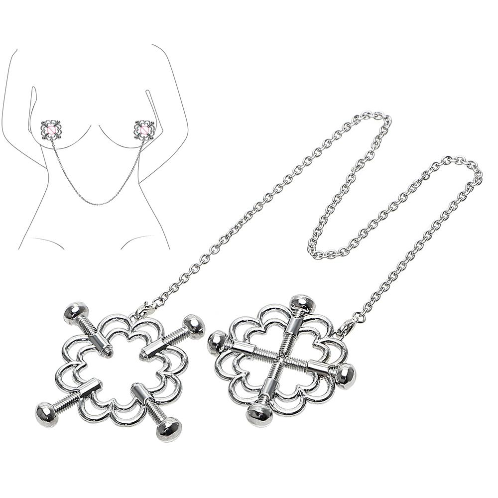 Nipple Clamps Nipple Stimulator Breast Clips Stainless Steel Erotic Toys Sex Toys for Women Couple Adult Games SM Flirt