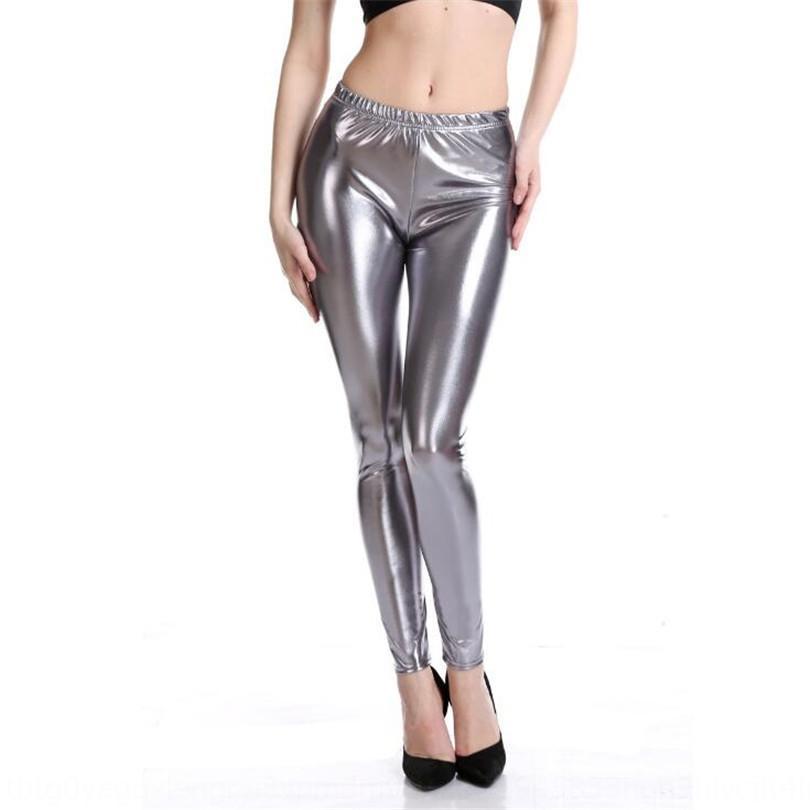 agsEi Моды стиля ярких кож щиколоток узких брюки узкие брюки брюки высокой упругая большого размера имитация кожа мода твердые цв
