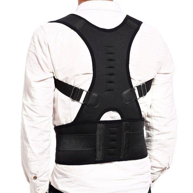 Male Female Lumbar Support Straight Corrector de espalda Adjustable Magnetic Posture Corrector Corset Back Brace Back Belt S-XXL