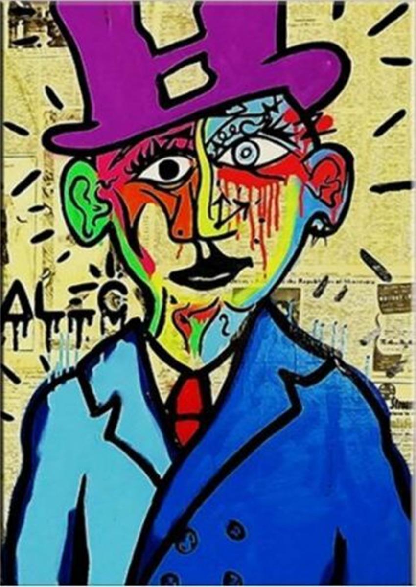 Alec Monopoly arte de la calle Salvador Dalí pintado a mano de la decoración del hogar impresión de HD pintura al óleo sobre lienzo de arte cuadros de la pared de la lona 1275