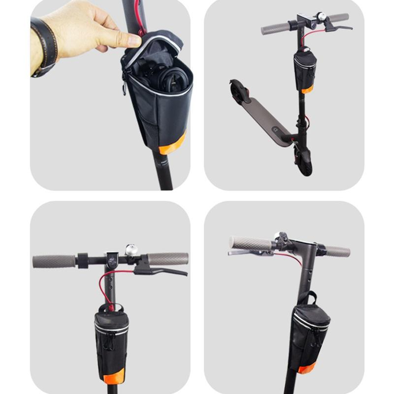 Waterproof Replacement Electric Scooter Front Rear Carry Bag Handlebar Mounted Zipper Storage Case