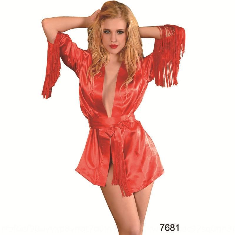 3WPzD Oilcloth encanto de la medianoche atractiva 7681 Oilcloth encanto de la medianoche bata camisón de la ropa interior pijamas Albornoz pijamas atractivos de la ropa interior nightgo