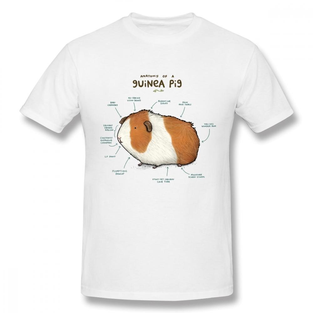 100 Cotton Vintage Style Anatomie eines Meerschweinchen Hunde-T-Shirt für Mann Homme Big