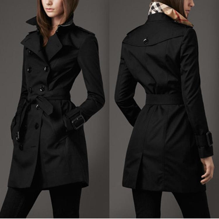 Frauen-2020 Frühling-neue britische Art und Weise zweireihiger dünne Windjacke Mantel langer Trenchcoat für Frauen