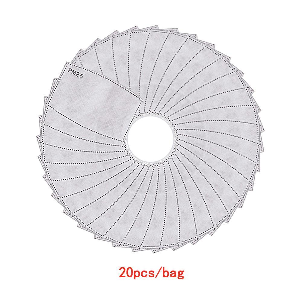 Traspirante PM 2.5 Carta da filtro per Anti Haze Dust Face Mask Attivato Filtro carbone Attivato Anti Polvere Cover per la bocca all'aperto Maschere da lavoro all'ingrosso