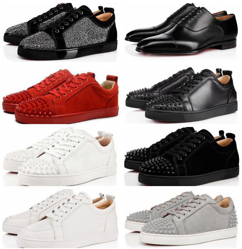 Plate-forme de haute qualité chaussures cloutés Spikes Flats chaussures de sport pour hommes et femmes Party Lovers véritables chaussures en cuir Chaussures de sport grande taille 36EUR-47EUR