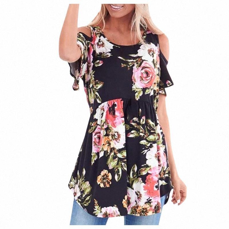 KANCOOLD Fashion Women Tshirt Girl Flowers Print O Neck Loose Short T Shirt Casual Bohemia Irregular Hem Summer Female Top Puif#