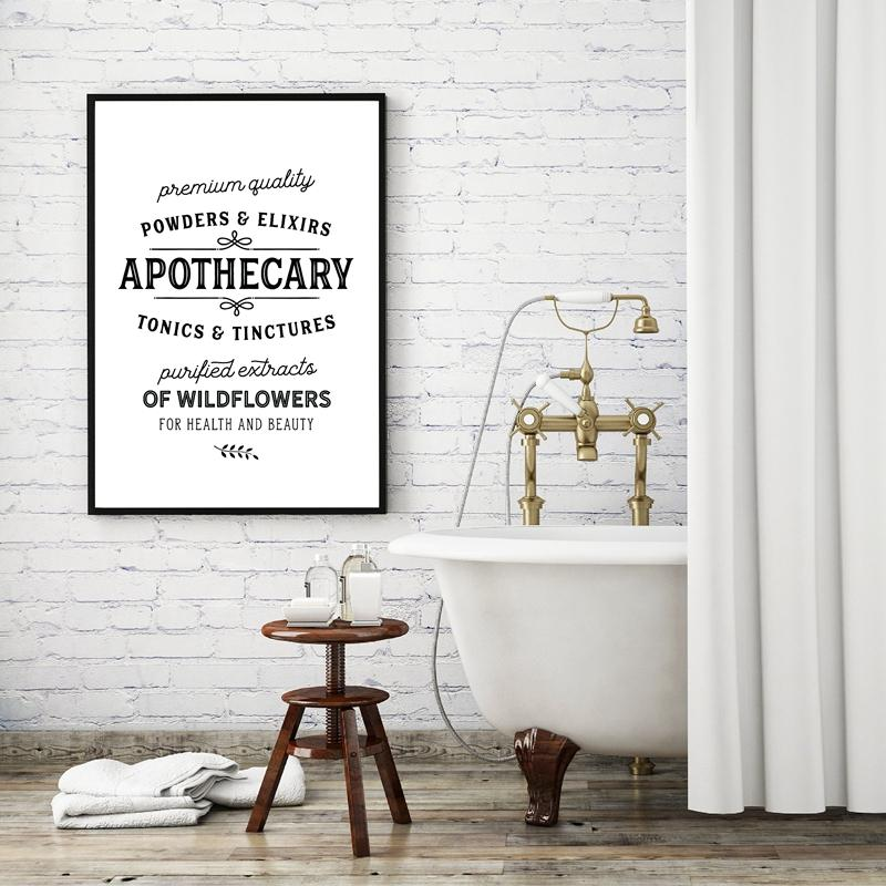 2021 Bathroom Signs Canvas Art Poster Prints Vintage Bathroom Decor Apothecary Quote Art Painting Farmhouse Large Wall Art Picture From Zhu793737893 6 69 Dhgate Com