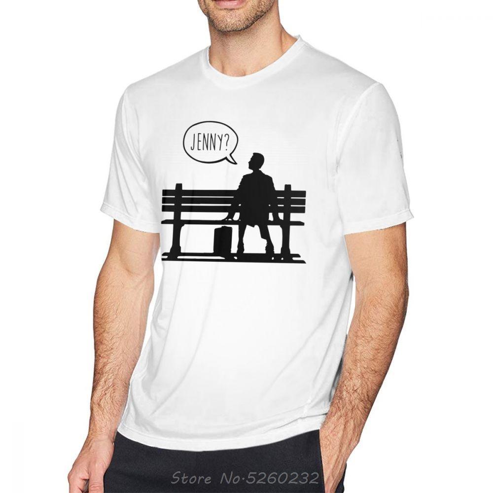 Impresionante Forrest Gump Forrest Gump camiseta de la camiseta del hombre de la camisa de manga corta de verano Impreso camiseta del algodón de Calle