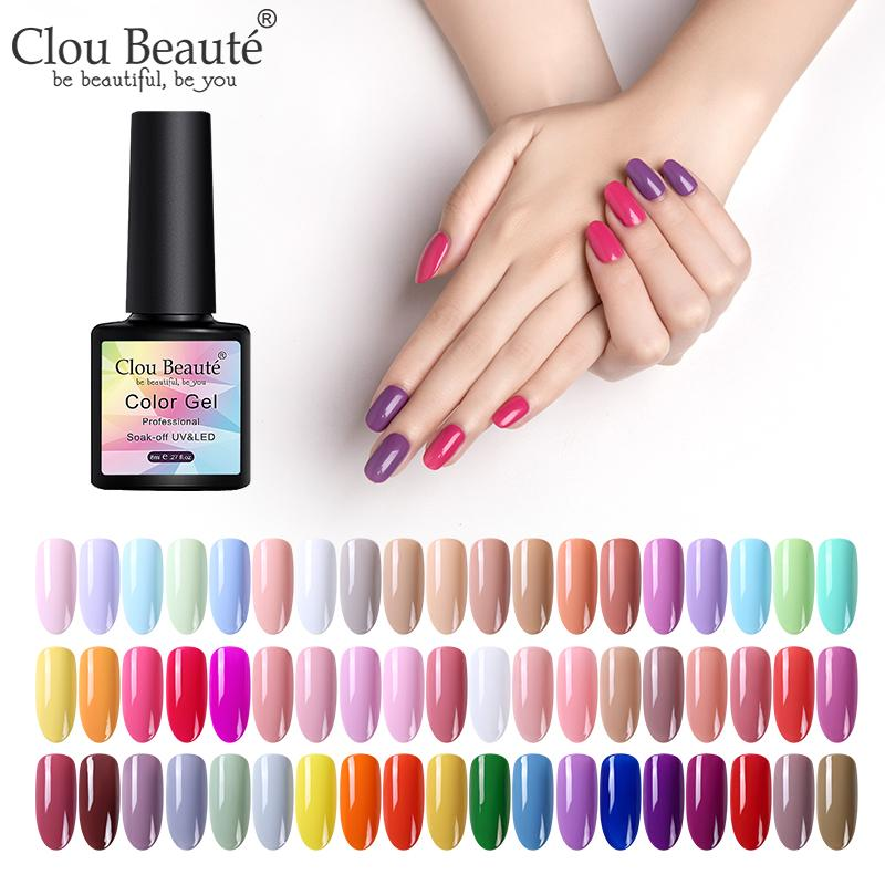 Clou Beaute Nail Gel Polish UV LED Gel Varnish Matte Top Soak Off Lacquer Hybrid Painting Polish Gellak Base Top Coat